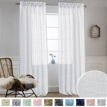 NICETOWN Custom Solid Linen Look Slub Fabric Swatch Refundable Order Amount Over $199