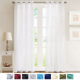 NICETOWN Solid Voile Sheer Fabric Swatch Refundable Order Amount Over $199
