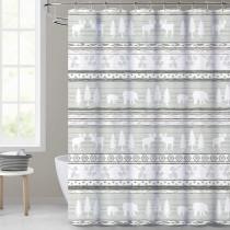 Farmhouse Boho Grey Shower Curtain for Bathroom-Forest Animals by Nicetown Custom