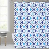 Boho Blue Shower Curtain for Bathroom by Nicetown Custom