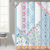 Boho Blue Shower Curtain for Bathroom-Unique Rustic Bohemia by Nicetown Custom