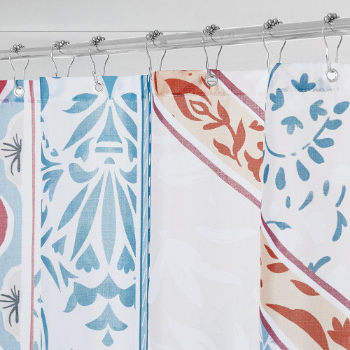 Boho Blue Shower Curtain for Bathroom-Unique Rustic Bohemia by Nicetown Custom