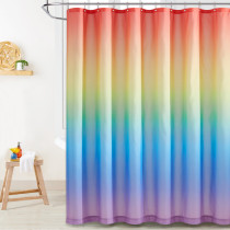 Up & Down Rainbow Multicolor Unique Kids Shower Curtains for Bathroom by Nicetown Custom