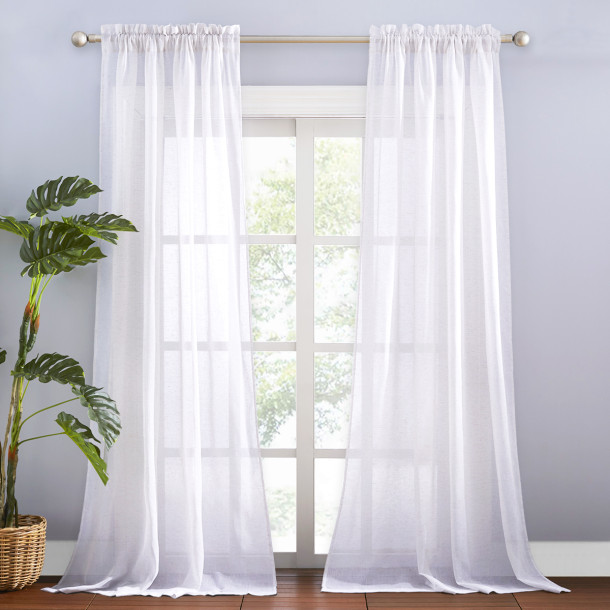 Linen Curtain, Window Curtain for Bedroom, Sold as 1 Panel