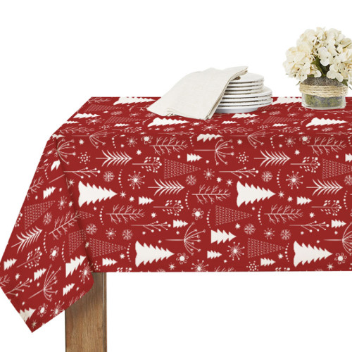 Red Christmas Tablecloth for Rectangle Table