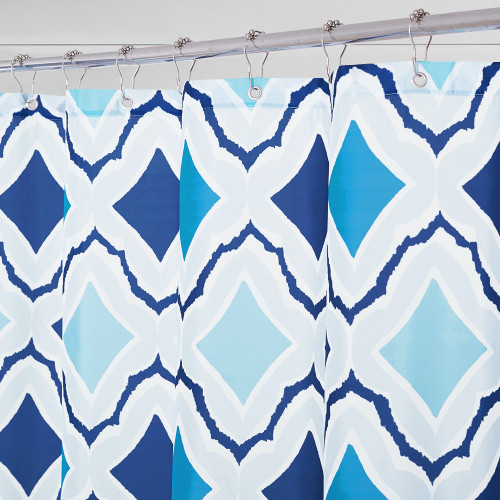 NICETOWN GIFT Blue Star Bathroom Shower Curtain
