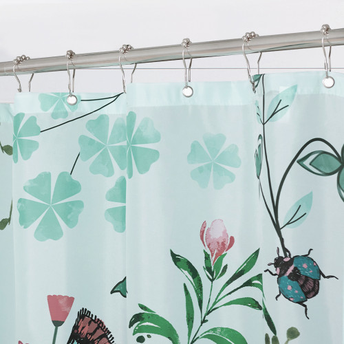 NICETOWN GIFT Spring Garden, Simple Modern Fashion Shower Curtain, Bathroom Curtain, Waterproof Material, 1 PC