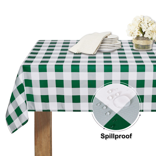 Waterproof Simple Checked Plaid Tablecloth