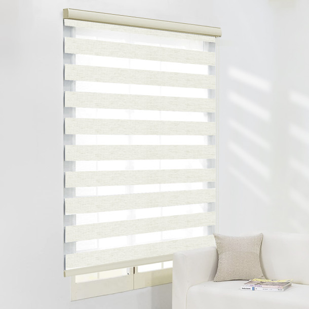 NICETOWN Custom Zebra Dual Layer Roller Shades Window Blinds