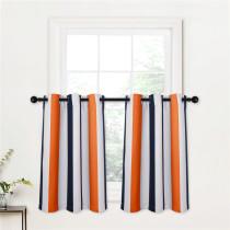 Custom Contrast Stripes Pattern Tier Short Room Darkening Curtain for Kitchen by NICETOWN ( 1 Panel )