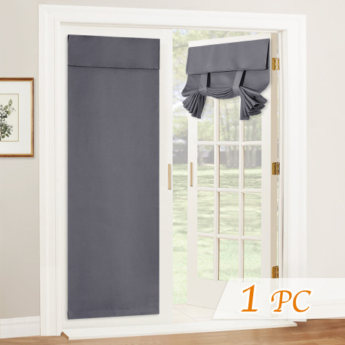 Blackout Tricia Door Curtain Blind with Tie Up Strap (1 Panel)