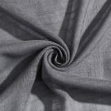 Custom Extra Wide Light Filtering Semi Sheer Curtain-Linen Sheer Textured Sheer Curtain by NICETOWN ( 1 Panel )