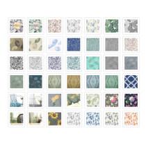 NICETOWN Custom Prints Linen Look Doris Sheer Fabric Swatch Refundable Order Amount Over $199