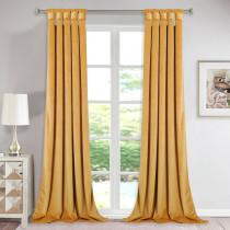 NICETOWN Solid Velvet Blackout Curtain Drapery (One Panel)