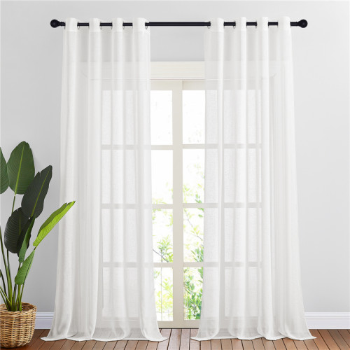 Flax Linen Sheer Curtain (1 Panel)