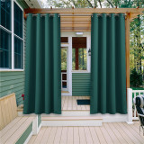 Custom Outdoor Curtains Waterproof Windproof Block UV Blackout Drape for Patio / Foyer / Arbor by NICETOWN ( 1 Panel )