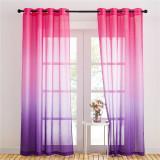 Custom Rainbow Pattern Printed Voile Sheer Curtain Kids Blackout Curtain by NICETOWN ( 1 Panel )