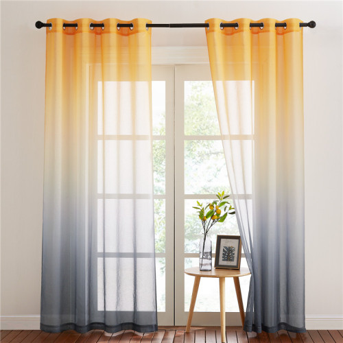 Rainbow Pattern Printed Sheer Curtain - 1 Panel