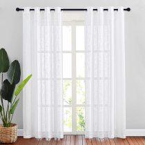 NICETOWN Linen Textured Semi Sheer Curtain (1 Panel)
