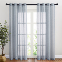 Custom Semi Sheer Curtain Semi-Linen Sheer Textured Sheer Curtain for Bedroom by NICETOWN ( 1 Panel )