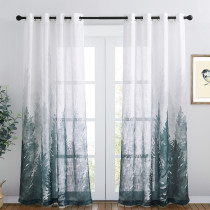 NICETOWN Deep Forest Linen Textured Sheer Curtain - 1 Panel