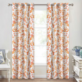 Custom Floral Leaf Watercolor Dots Pattern Room Darkening Blackout Thermal  Curtain for Bedroom by NICETOWN ( 1 Panel )
