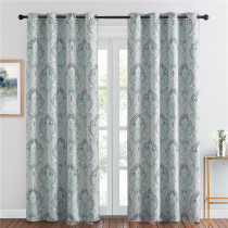 Multicolor Damask Medallion Pattern Blackout Curtain(1 Panel)