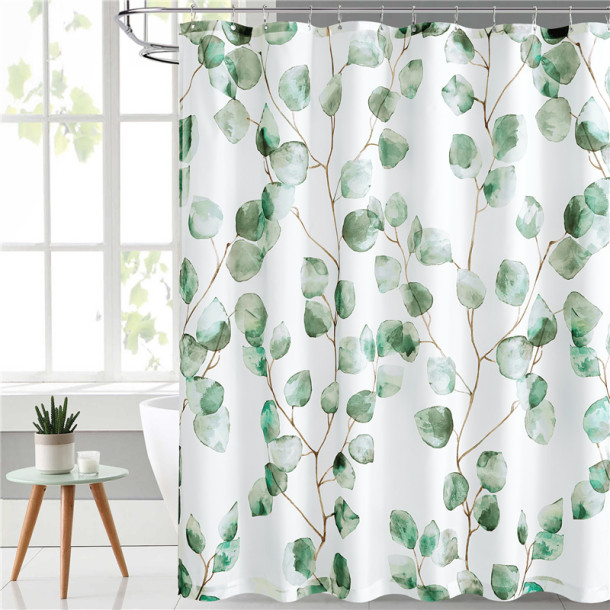 Branches And Leaves Waterproof Shower Curtain