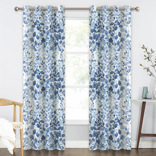 Custom Natural Foliage Pattern Room Darkening Blackout Thermal Curtain for Bedroom by NICETOWN ( 1 Panel )
