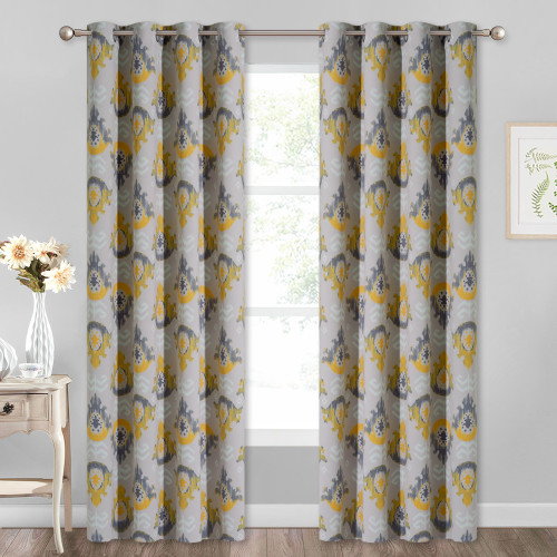 Custom Floral Print Retro Style Medallion Pattern Blackout Curtain Room Darkening Thermal Curtain by NICETOWN ( 1 Panel )