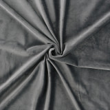 Custom Grey Solid Blackout Privacy Energy Saving Velvet Curtain Thermal Drapery by NICETOWN ( 1 Panel )