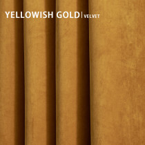 Yellowish Gold Solid Blackout Velvet Curtain Drapery (1 Panel)