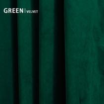 Green Solid Blackout Velvet Curtain Drapery (1 Panel)