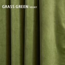 Grass Green Solid Blackout Velvet Curtain Drapery (1 Panel)
