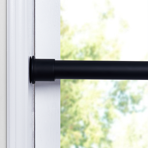 Room/Dividers/Now Premium Tension Curtain Rod, 28in-120in(Black)