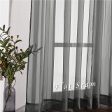 Custom Voile Sheer Curtain Solid Sheer Curtain for Living Room by NICETOWN ( 1 Panel )