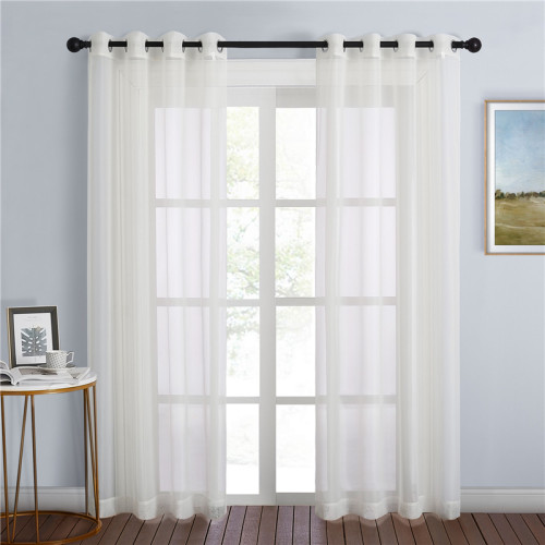 Solid Voile Sheer Curtain (1 Panel)