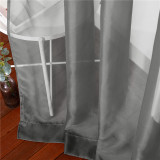 Custom Extra Wide Sliding Door Voile Sheer Curtain  Solid Sheer Curtain by NICETOWN ( 1 Panel )