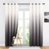 Custom Ombre Velvet Curtain Drapery Room Darkening Energy Saving Blackout Curtain for Bedroom by NICETOWN ( 1 Panel )