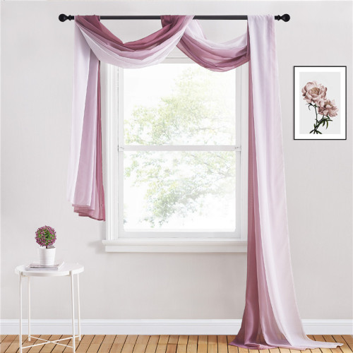 Scarf Curtain Sheer Voile Scarf Window Valance