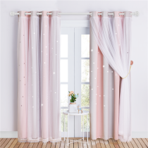 NICETOWN Double Layers Blackout Curtain with White Sheer Layer Overlay Thermal Insulated Layer Gradient Multicolor Stripe