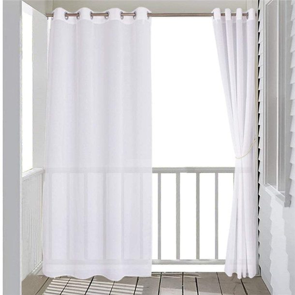 Custom Waterproof Duoli Sheer Curtain for Patio by NICETOWN ( 1 Panel )