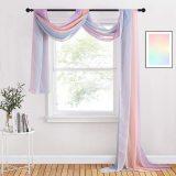 Custom Rainbow Scarf Curtain Sheer Voile Scarf Window Valance-Wedding Decoration by NICETOWN ( 1 Panel )