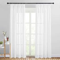 NICETOWN Semi Sheer Curtain- Linen Textured Sheer Curtain(1 Panel)
