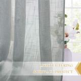Custom Semi Sheer Curtain-Linen Top Pinch Pleat Linen Sheer Curtain by NICETOWN ( 1 Panel )
