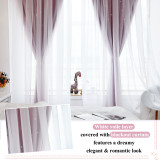 Custom Sheer Voile Window Drape with Star Cut Blackout Curtain for Baby Room-Kids-Nursery Blackout Curtain by NICETOWN ( 1 Panel )