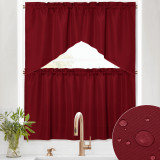 Custom Waterproof & Scratch Resistant Window Valances and Tier Curtains-Kitchen-Bathroom(Set of 4 Panels) by NICETOWN