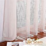 Custom Semi Sheer Curtain-Linen Tab Top Sheer Textured Sheer Curtain by NICETOWN ( 1 Panel )