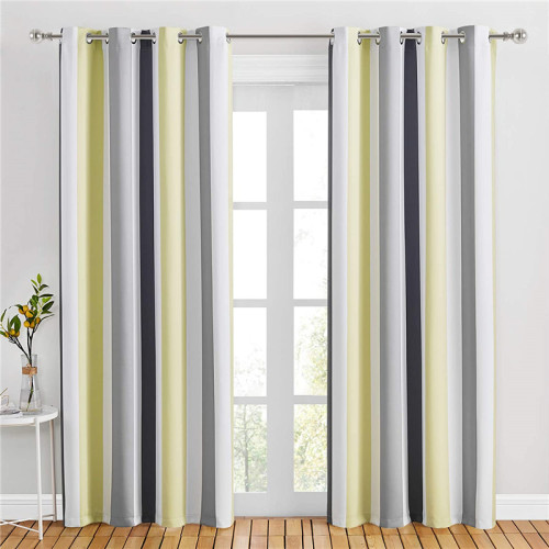 Custom Hit Color Stripes Drape Blackout Room Darkening Curtain by NICETOWN ( 1 Panel )