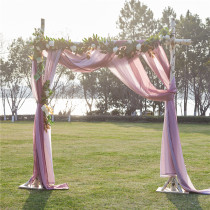 Custom Decorative Wedding Arch Draping Scarf Curtain Sheer Voile Scarf Valance by NICETOWN ( 1 Panel )